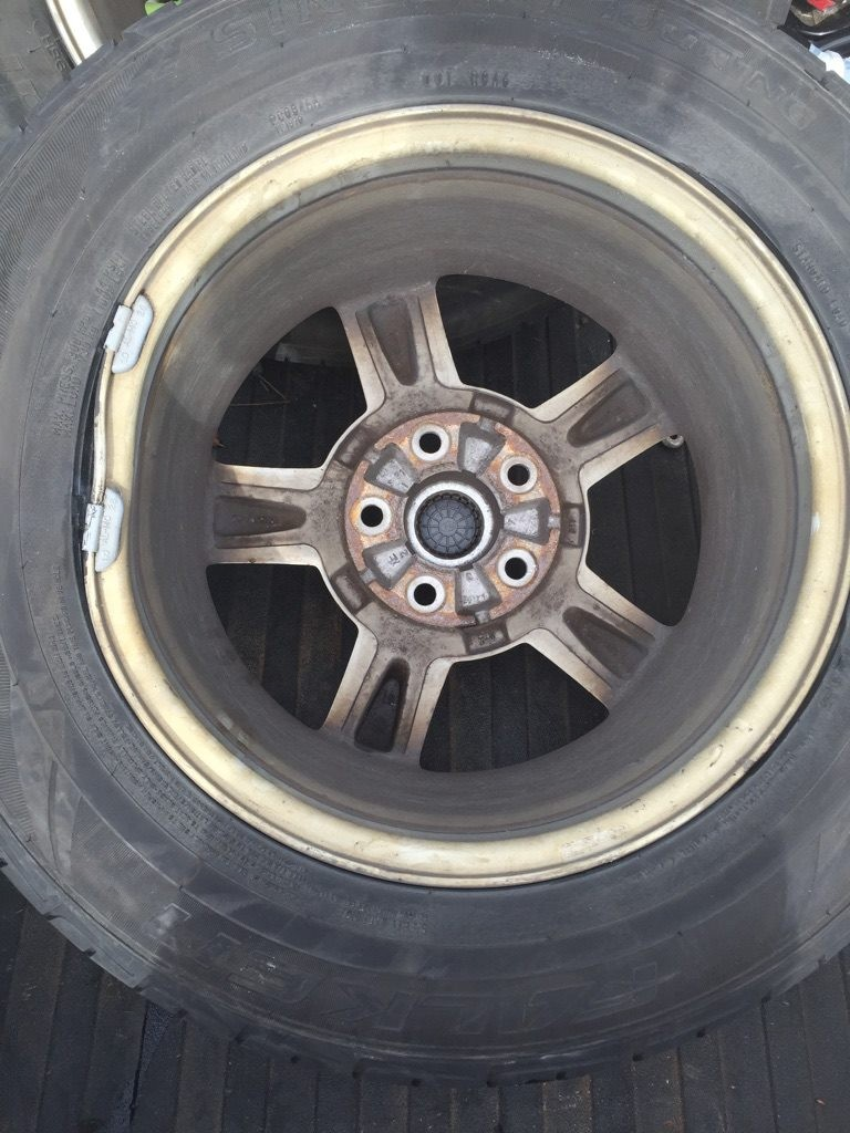 tire with bent rim